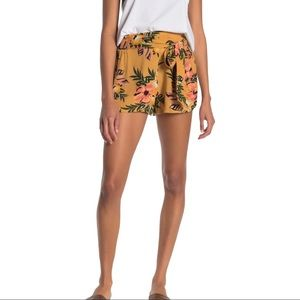 RIP CURL Sunchasers Yellow Floral Shorts XL Rayon